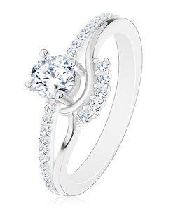 Stříbrný 925 prsten - zásnubní