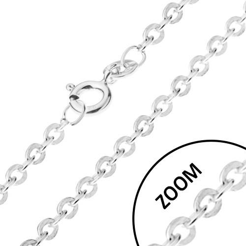 Stříbrný 925 řetízek s kolmo napojovanými očky