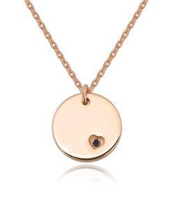 Stříbrný náhrdelník 925 - kruhová známka