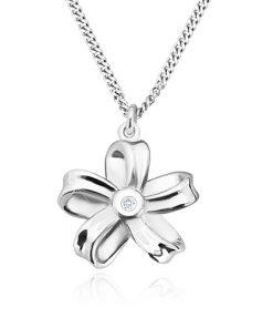 Stříbrný náhrdelník 925 - lesklá stuha