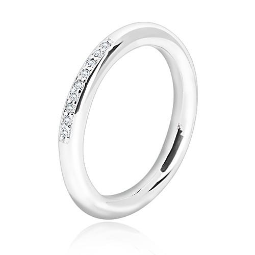Stříbrný prsten 925 - lesklý zaoblený povrch