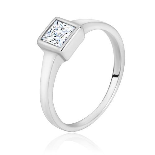 Stříbrný prsten 925 - úzká lesklá ramena