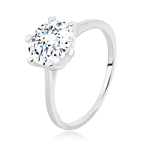 Stříbrný prsten 925 - úzká ramena