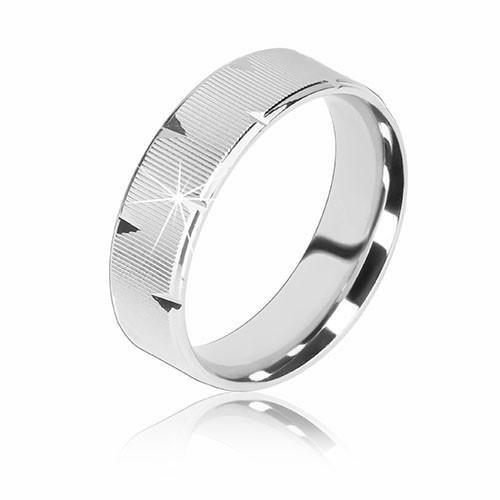 Stříbrný prsten 925 - vroubkovaný povrch