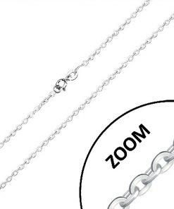Stříbrný řetízek 925 - lesklá oválná očka
