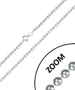 Stříbrný řetízek 925 - zrcadlově lesklé kuličky