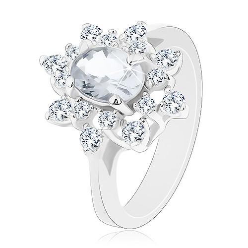 Třpytivý prsten se stříbrným odstínem