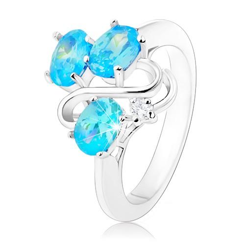 Třpytivý prsten stříbrné barvy