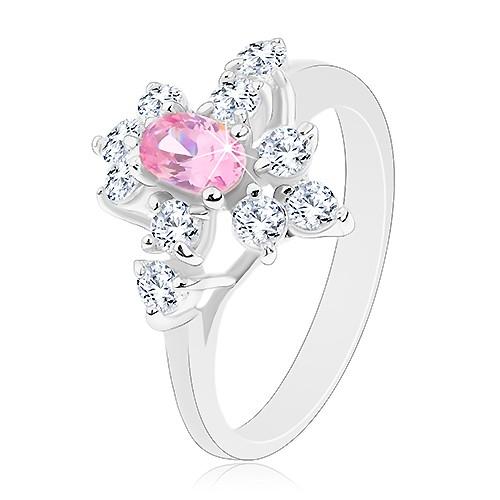Třpytivý prsten ve stříbrné barvě