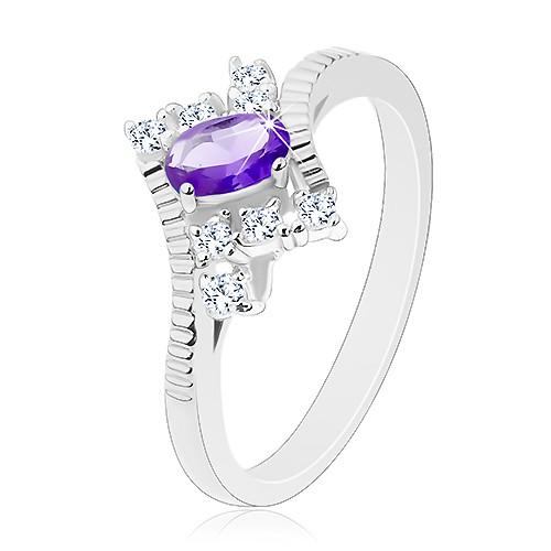 Třpytivý prsten ve stříbrném odstínu