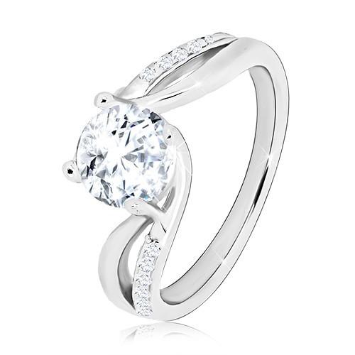 Prsten ze stříbra 925 - kulatý blýskavý zirkon