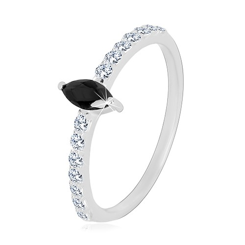 Stříbrný 925 prsten - úzká ramena