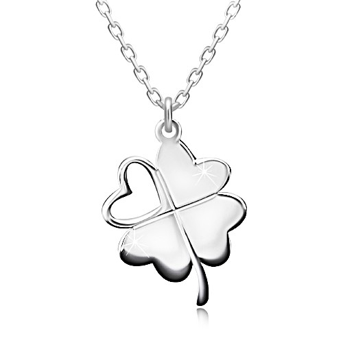 Stříbrný náhrdelník 925 - čtyřlístek pro štěstí