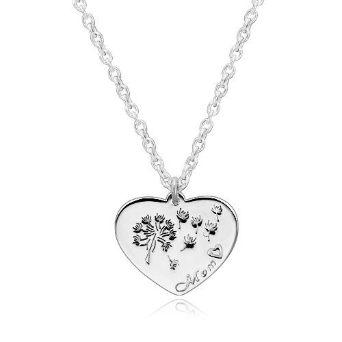 Stříbrný náhrdelník 925 - souměrné srdíčko