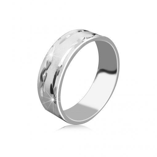 Stříbrný prsten 925 - matný povrch