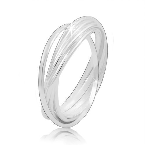 Stříbrný prsten 925 - propojené tenké prstence