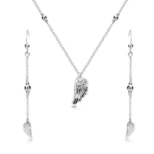 Stříbrný set 925 - náušnice a náhrdelník